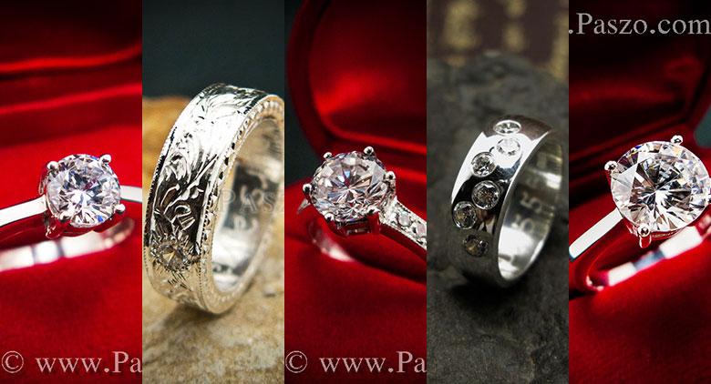 แหวนเงินฝังเพชร แหวนเงินแท้ประดับเพชร แหวนเพชรเงิน แหวนเงินแท้ฝังเพชร