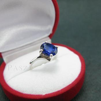 แหวนไพลิน แหวนเงิน พลอยไพลิน #2