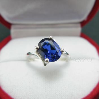 แหวนไพลิน แหวนเงิน พลอยไพลิน #4