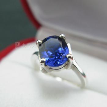 แหวนไพลิน แหวนเงิน พลอยไพลิน #5