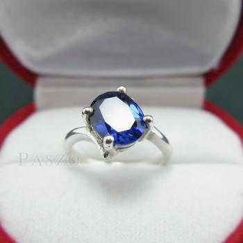 แหวนไพลิน แหวนเงิน พลอยไพลิน #6