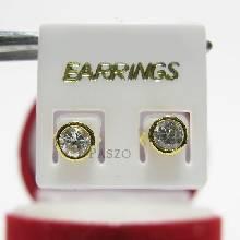 ต่างหู ต่างทอง90% ฝังเพชรน้ำงาม ต่างหูเพชร