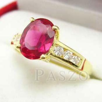 แหวนทับทิม แหวนทอง ฝังพลอยทับทิม #2