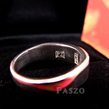 แหวนนามสกุล แหวนเงินแท้ หน้ากว้าง6มิล #7