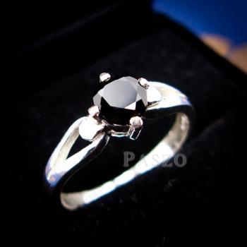 แหวนนิล แหวนเงินแท้ ฝังนิล #2