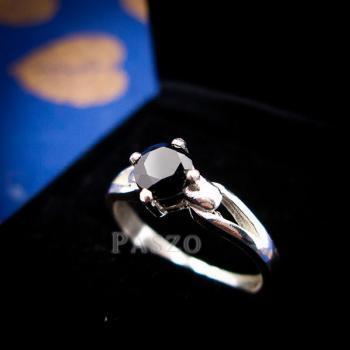 แหวนนิล แหวนเงินแท้ ฝังนิล #4