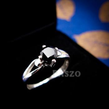 แหวนนิล แหวนเงินแท้ ฝังนิล #5
