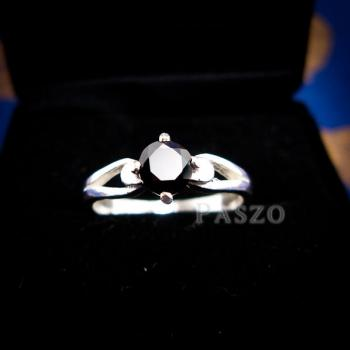 แหวนนิล แหวนเงินแท้ ฝังนิล #6