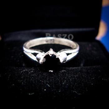 แหวนนิล แหวนเงินแท้ ฝังนิล #7