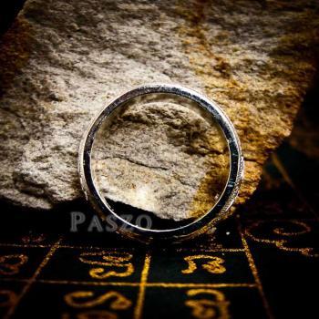 แหวนแกะลายไทย หน้ากว้าง6มิล แหวนหน้าโค้ง #3