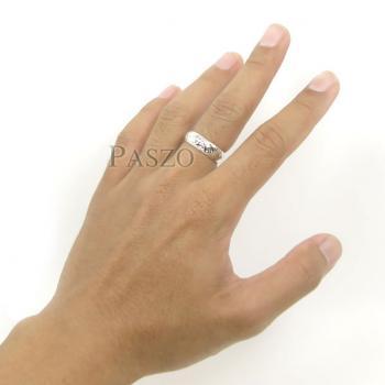 แหวนแกะลายไทย หน้ากว้าง6มิล แหวนหน้าโค้ง #9