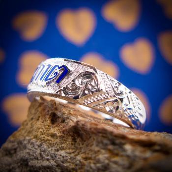 แหวนนามสกุล แหวนเงินแท้ หน้ากว้าง #4