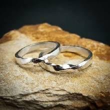 ชุดแหวนเงินคู่รัก แหวนเงินคู่ หน้าบิดเกลียว 1 รอบ