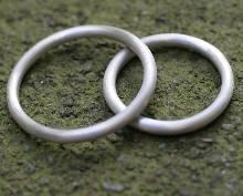 แหวนคู่ แหวนเงินแท้ ปัดด้าน แหวนเงินเส้นกลม