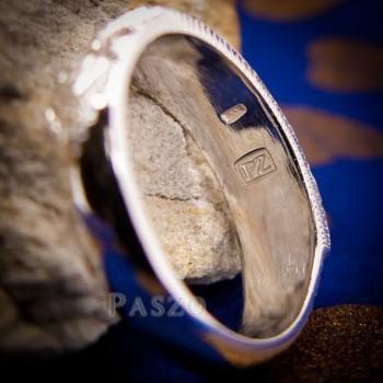 แหวนลงยาสีเขียว แหวนนามสกุล แหวนเงินแท้ #6