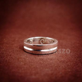 แหวนเซาะร่อง หน้ากว้าง4มิล แหวนเงินแท้ #4