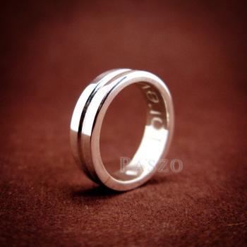 แหวนเซาะร่อง หน้ากว้าง4มิล แหวนเงินแท้ #3