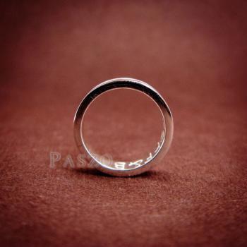 แหวนเซาะร่อง หน้ากว้าง4มิล แหวนเงินแท้ #7