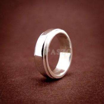 แหวนลดระดับขอบ หน้ากว้าง6มิล แหวนเงินแท้ #3
