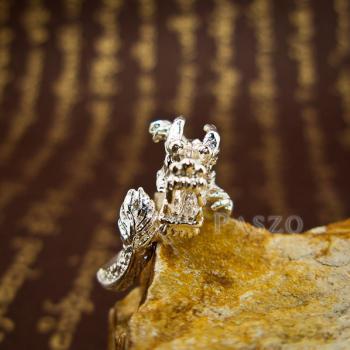 แหวนมังกร แหวนเงินแท้รูปมังกร แหวนปรับขนาดได้ #2