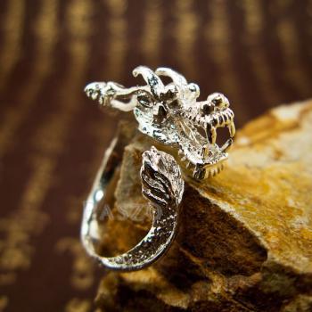 แหวนมังกร แหวนเงินแท้รูปมังกร แหวนปรับขนาดได้ #3