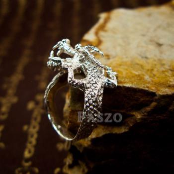 แหวนมังกร แหวนเงินแท้รูปมังกร แหวนปรับขนาดได้ #4