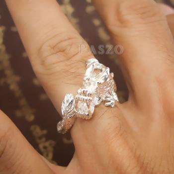แหวนมังกร แหวนเงินแท้รูปมังกร แหวนปรับขนาดได้ #7
