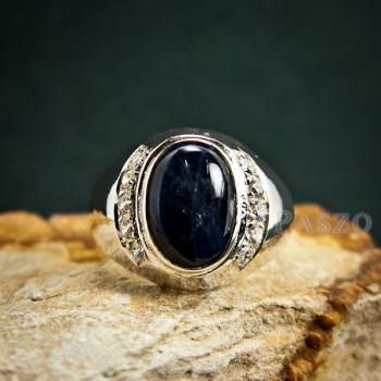 แหวนนิหร่า แหวนผู้ชายเงินแท้ แหวนไพลิน #2