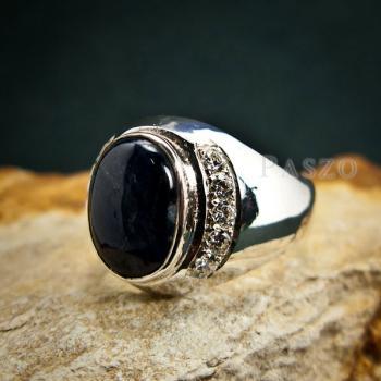 แหวนนิหร่า แหวนผู้ชายเงินแท้ แหวนไพลิน #3