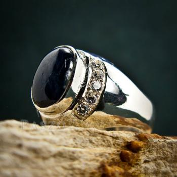 แหวนนิหร่า แหวนผู้ชายเงินแท้ แหวนไพลิน #5