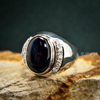 แหวนนิหร่า แหวนผู้ชายเงินแท้ แหวนไพลิน #6