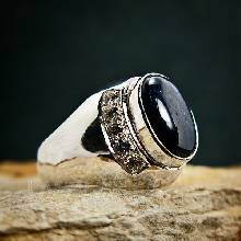 แหวนนิหร่า แหวนผู้ชายเงินแท้ แหวนไพลิน บ่าฝังเพชร แหวนเงินแท้ 925 แหวนผู้ชาย แหวนผู้ชายนิหร่า