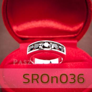 แหวนนิล แหวนพลอยแถว แหวนเงินแท้ #2