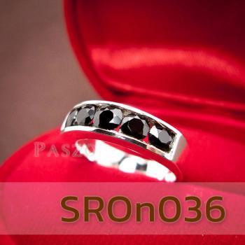 แหวนนิล แหวนพลอยแถว แหวนเงินแท้ #3