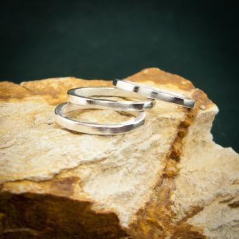 แหวนเงินเกลี้ยง แหวนกว้าง3มิล แหวนเงินแท้ #2