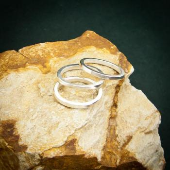 แหวนเงินเกลี้ยง แหวนกว้าง3มิล แหวนเงินแท้ #3