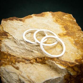 แหวนเงินเกลี้ยง แหวนกว้าง3มิล แหวนเงินแท้ #4