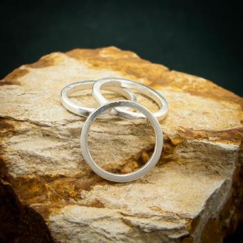 แหวนเงินเกลี้ยง แหวนกว้าง3มิล แหวนเงินแท้ #5