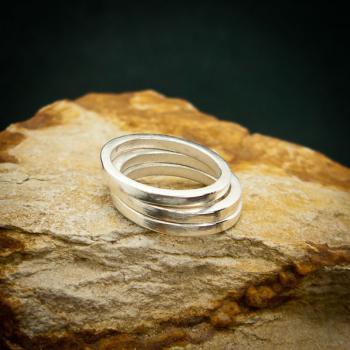 แหวนเงินเกลี้ยง แหวนกว้าง3มิล แหวนเงินแท้ #6