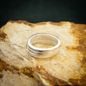 แหวนเงินเกลี้ยง แหวนกว้าง3มิล แหวนเงินแท้ #7