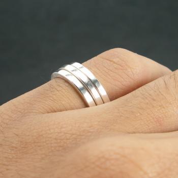 แหวนเงินเกลี้ยง แหวนกว้าง3มิล แหวนเงินแท้ #9