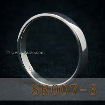 แหวนเกลี้ยงหน้าเรียบ กว้าง3มิล แหวนเงินแท้ #3