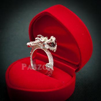 แหวนมังกร แหวนมังกร ตาฝังพลอมรกต #2