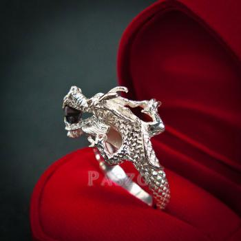 แหวนมังกร แหวนมังกร ตาฝังพลอมรกต #4