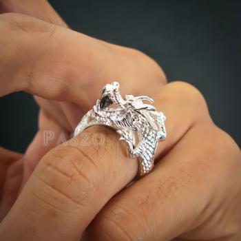 แหวนมังกร แหวนมังกร ตาฝังพลอมรกต #6