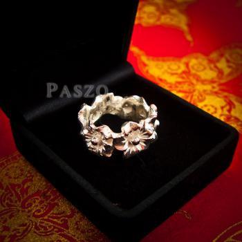 แหวนดอกไม้ แหวนเงินแท้925  #2