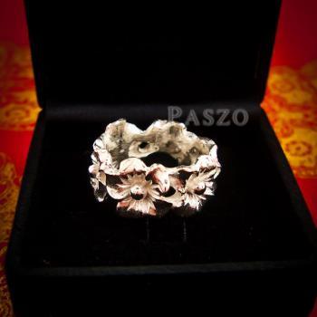 แหวนดอกไม้ แหวนเงินแท้925  #3