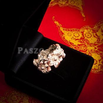 แหวนดอกไม้ แหวนเงินแท้925  #4