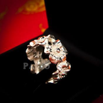 แหวนดอกไม้ แหวนเงินแท้925  #5