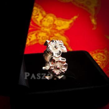 แหวนดอกไม้ แหวนเงินแท้925  #6